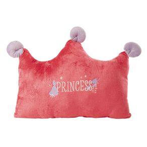 Disney Cushion Princess Crown Pink 50cm