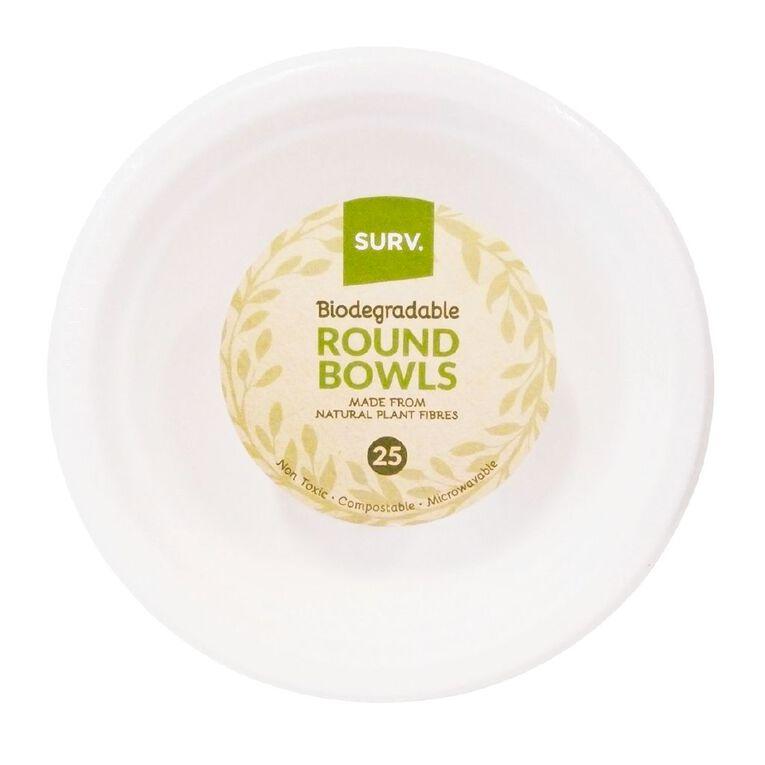 SURV. Biodegradable Bowls 18cm 25 Pack, , hi-res