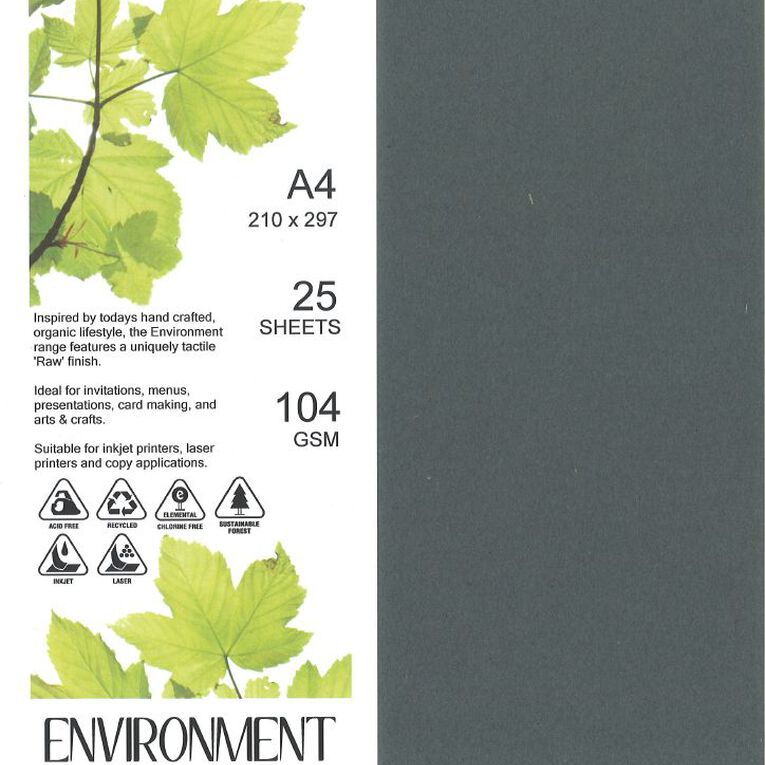 Direct Paper Enviro Paper 104gsm 25 Pack Wrought Iron Grey A4, , hi-res