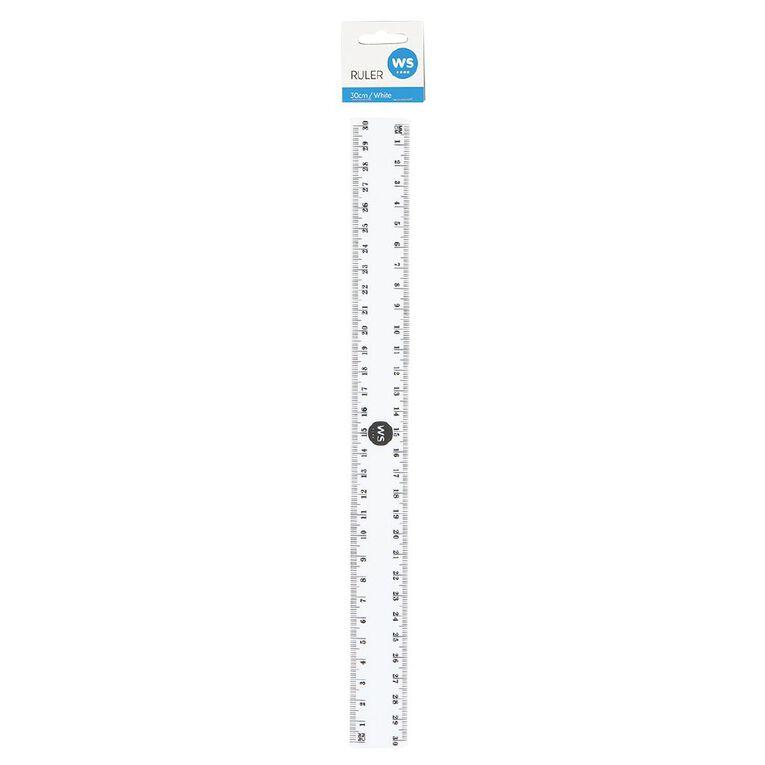 WS Ruler 30cm White, , hi-res