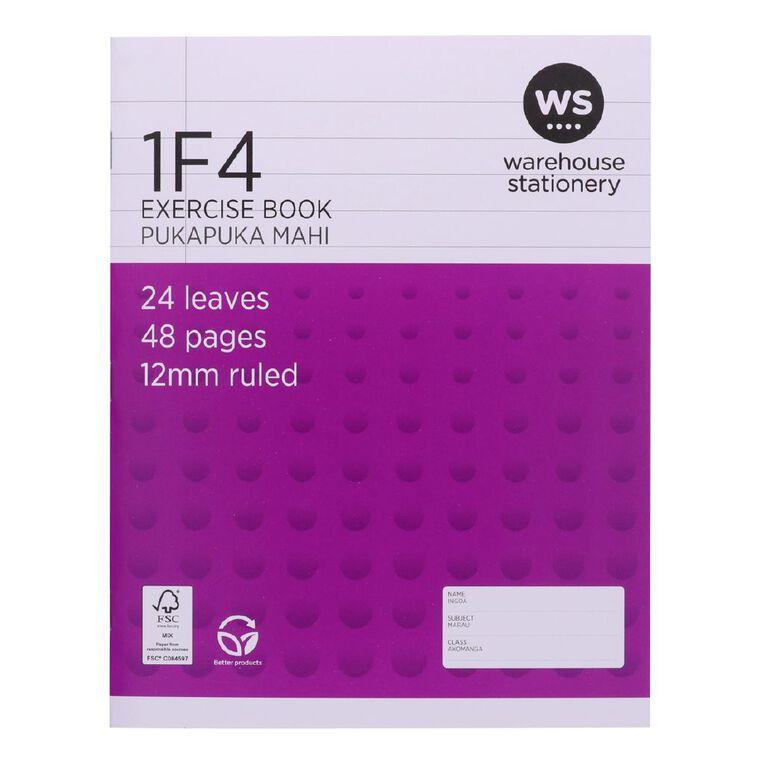 WS Exercise Book 1F4 12mm 24 Leaf Purple, , hi-res