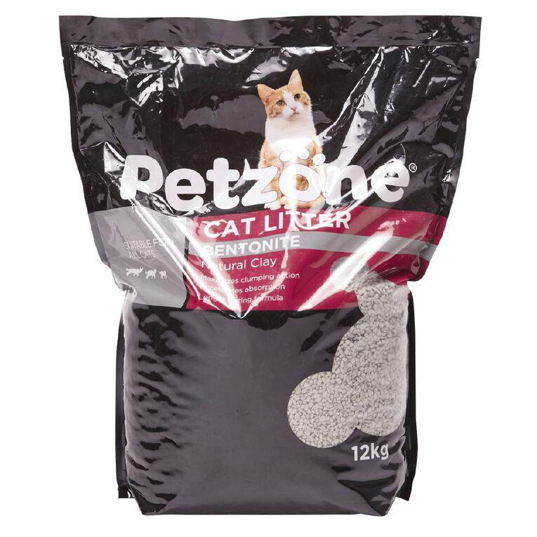 Petzone Cat Litter Bentonite Natural Clay 12kg, , hi-res