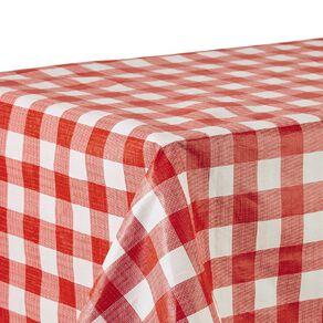 Living & Co Table Cloth Plastic Red/White 178cm x 132cm