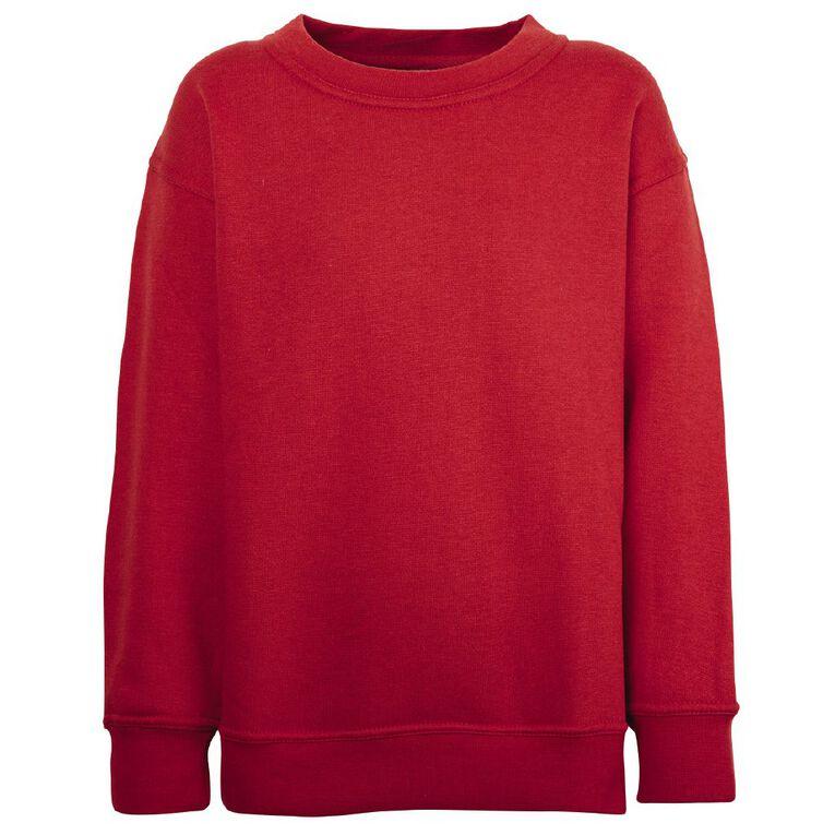 Schooltex Kids' Sweatshirt, Red, hi-res