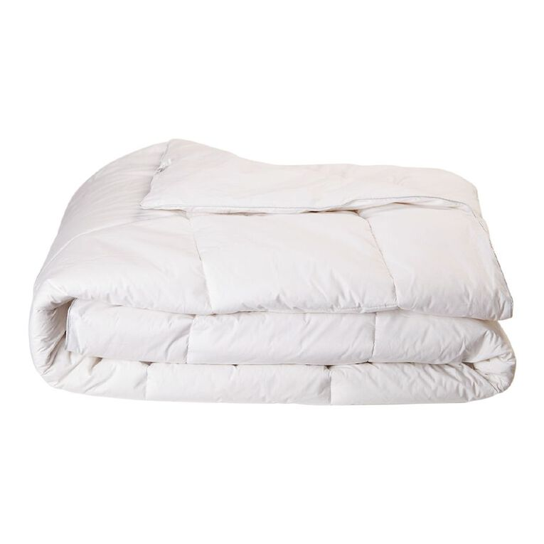 Living & Co Hotel Collection Duvet Inner NZ Wool 500gsm White King, White, hi-res