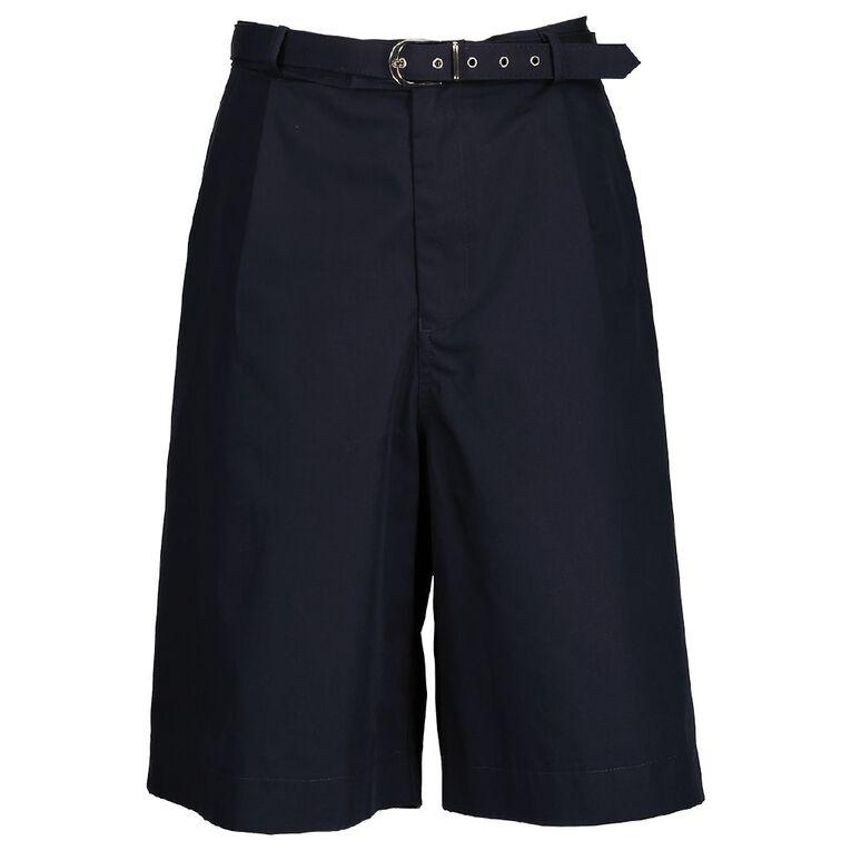 Schooltex Kids' Poplin School Shorts, Navy, hi-res