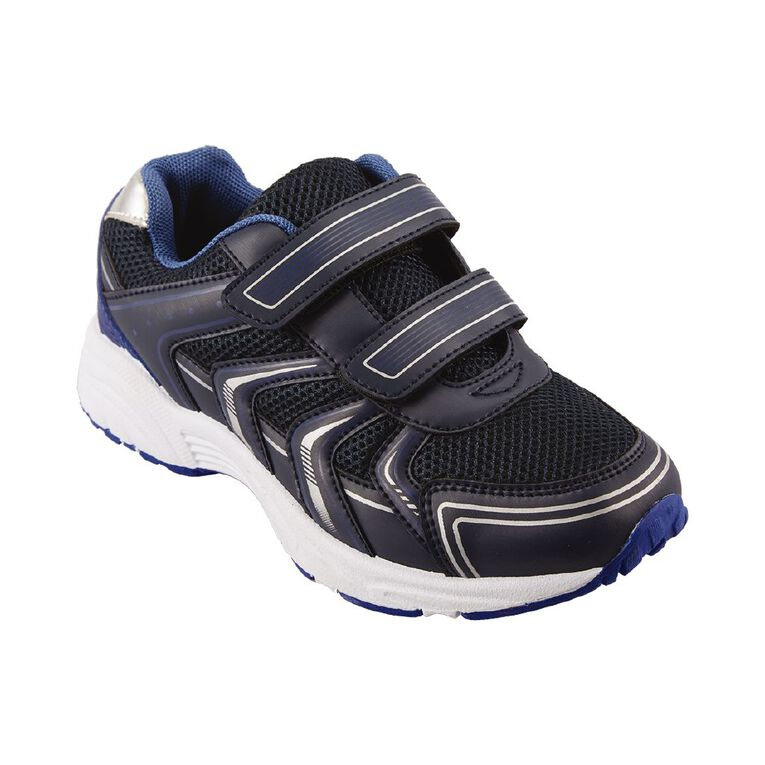Active Intent Kids' Duo Strap Sports Shoes, Navy, hi-res