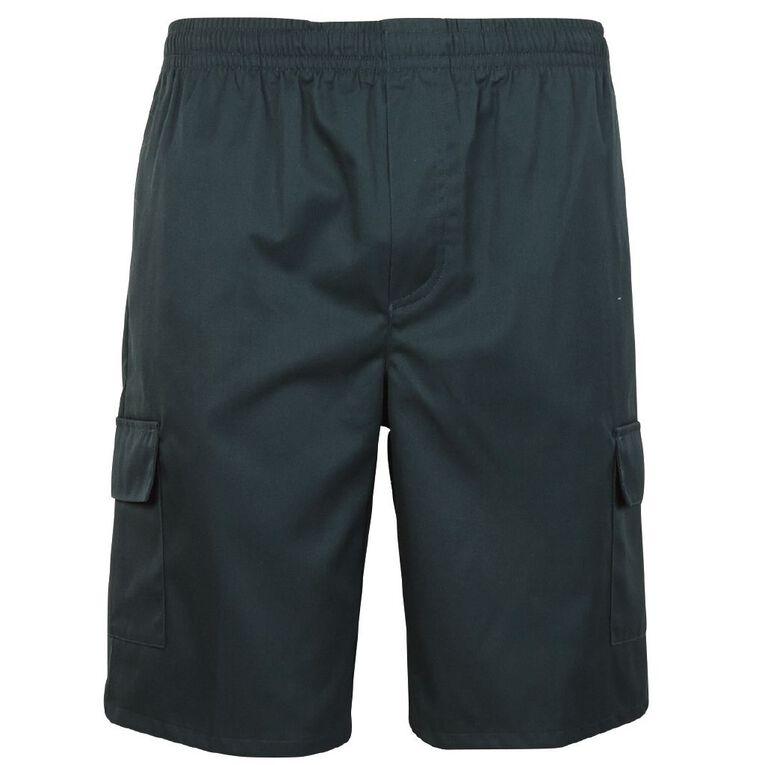Schooltex Utility Pocket Shorts, Bottle Green, hi-res