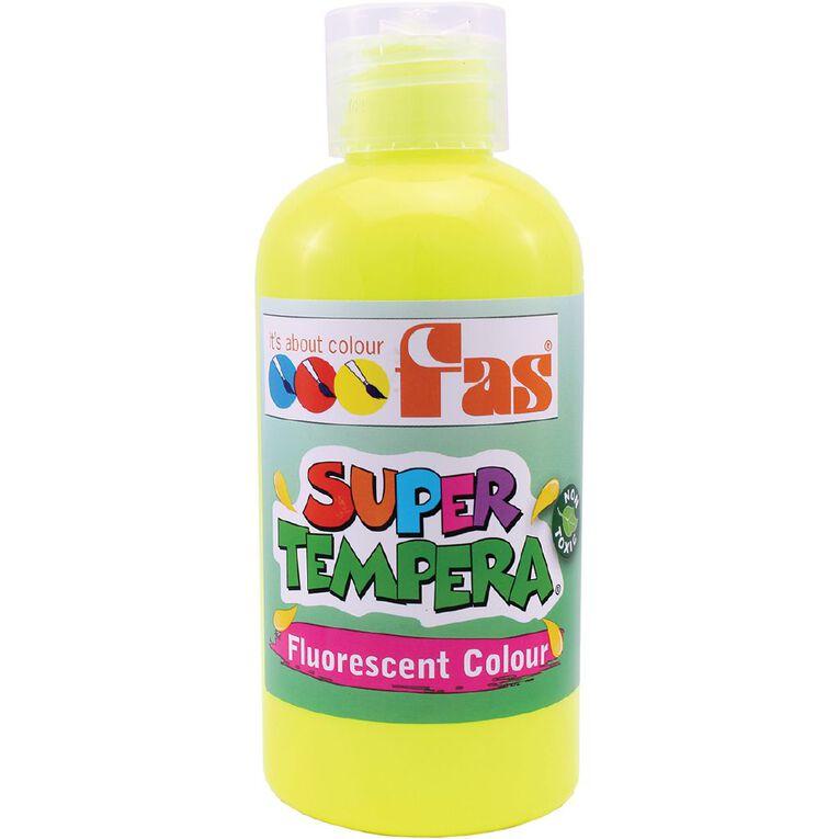 FAS Paint Super Tempera 250ml Fluoro Yellow, , hi-res