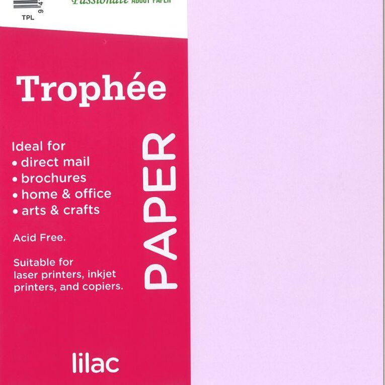Trophee Paper 80gsm 30 Pack Lilac Purple A4, , hi-res