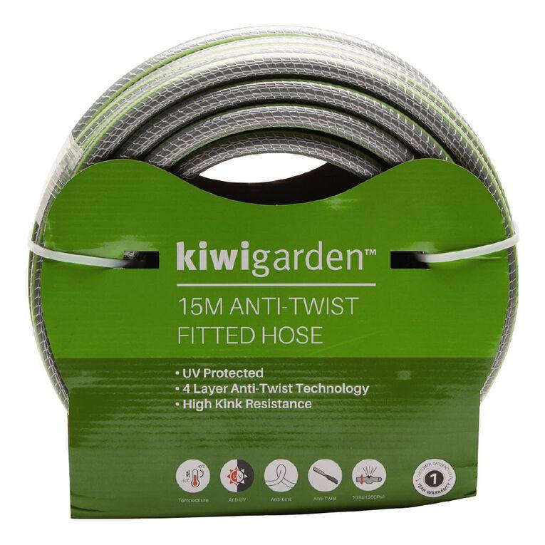 Kiwi Garden Anti-Twist Fitted Hose Green 15m, , hi-res