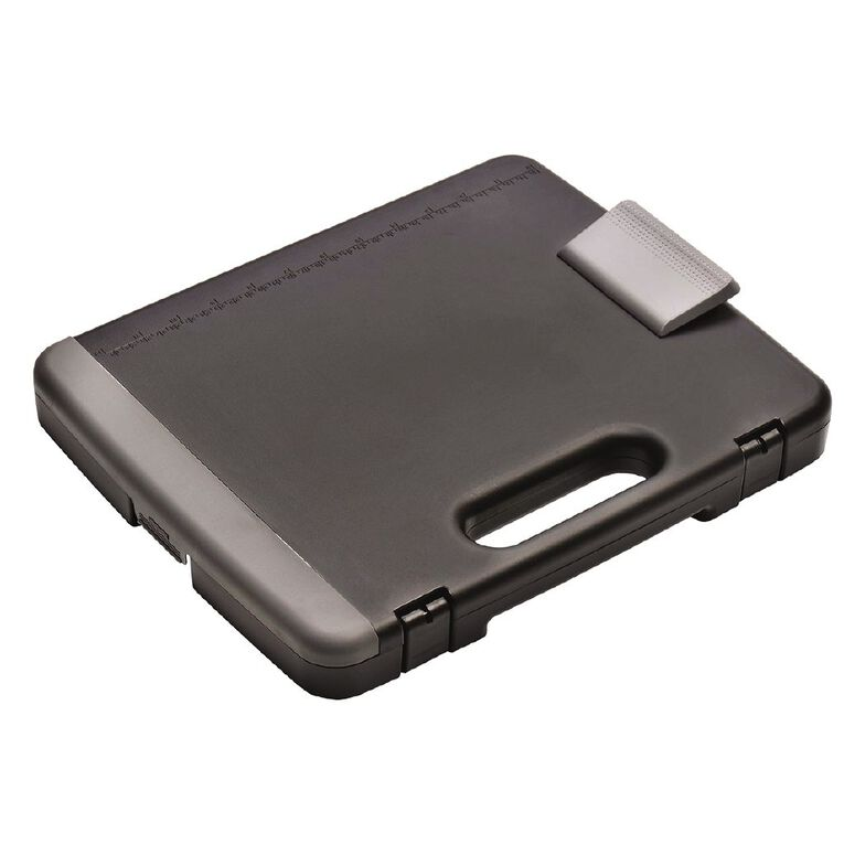 Office Supply Co Portable Storage Clipboard Grey/Black A4, , hi-res