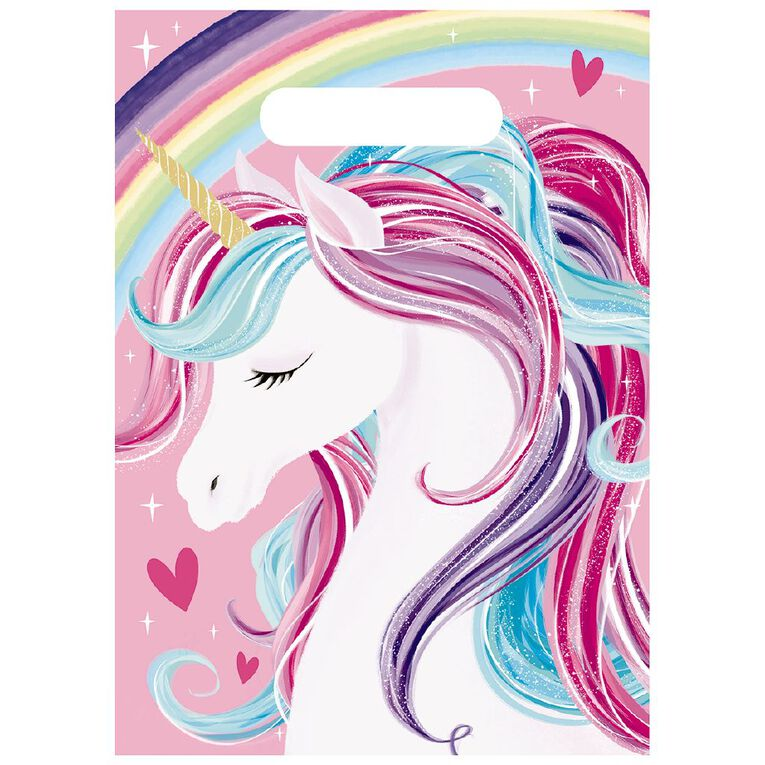 Artwrap Unicorn Party Bags 8 Pack, , hi-res image number null