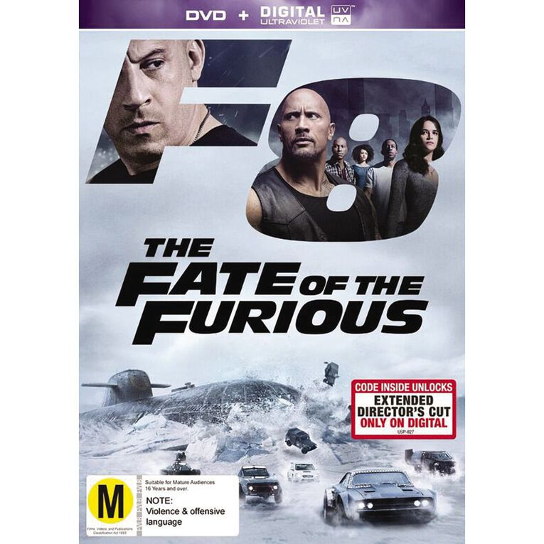 The Fate of The Furious 8 DVD 1Disc, , hi-res