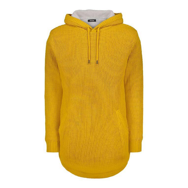 Garage Men's Pullover Hood Lined Jumper, Yellow Dark, hi-res