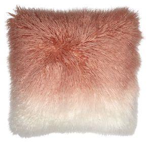Living & Co Ombre Faux Mongolian Cushion Dusty Pink 45cm x 45cm