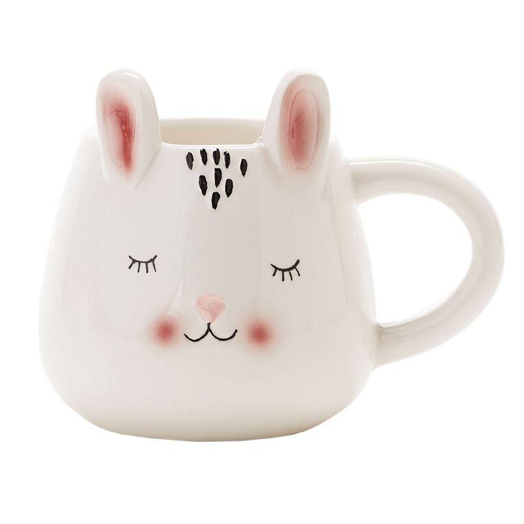 Living & Co Bunny Shaped Novelty Mug, , hi-res