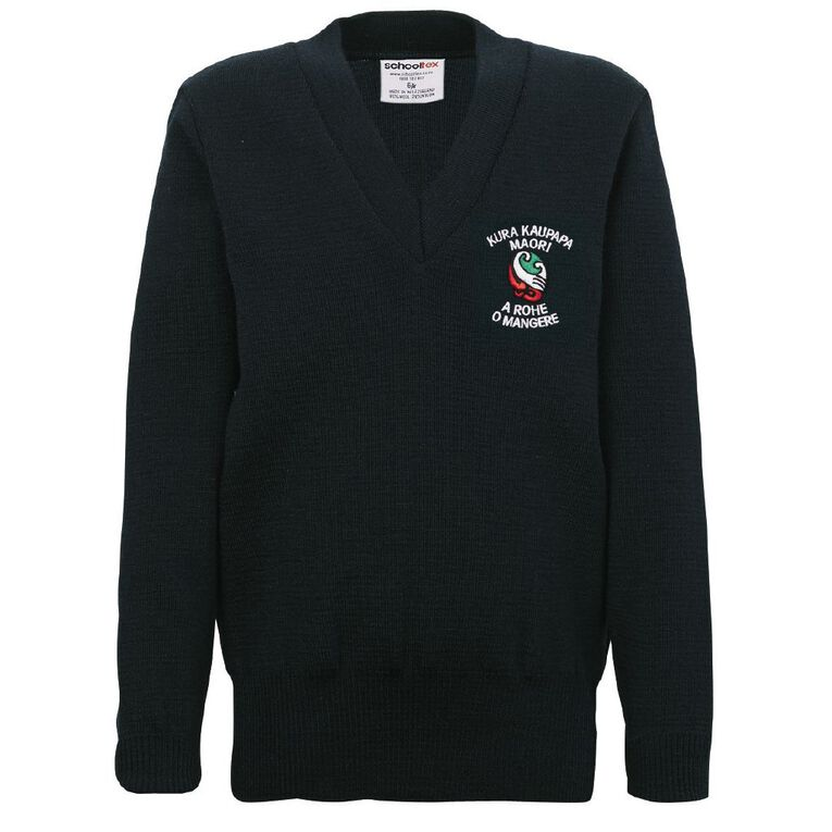 Schooltex TKKM O Mangere Jersey with Embroidery, Bottle Green, hi-res