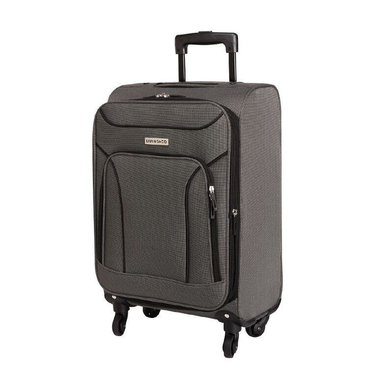 Living & Co Two Tone 4 Wheel Soft Suitcase, Grey, hi-res image number null