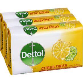 Dettol Bar Soap CItrus Fresh 3 Pack