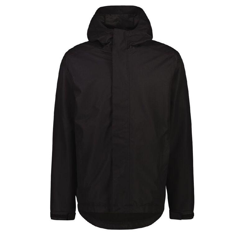 Active Intent Men's Textured Ski Jacket, Black, hi-res