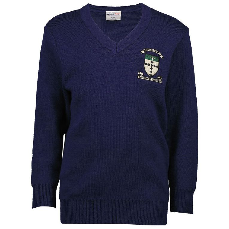 Schooltex Holy Family School Porirua Jersey with Embroidery, Dark Royal, hi-res