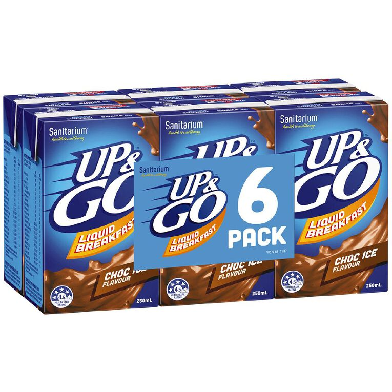 Up & Go Chocolate Ice 250ml 6 Pack, , hi-res