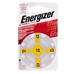 Energizer Hearing Aid Batteries AZ10 4 Pack