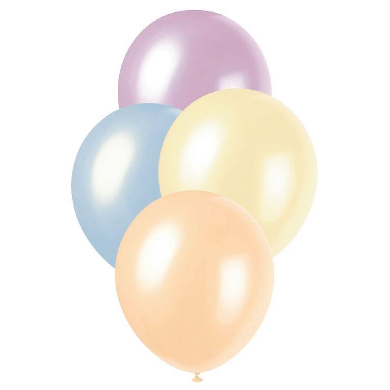 Unique Pearl Balloons 30cm 25 Pack Multi-Coloured, , hi-res