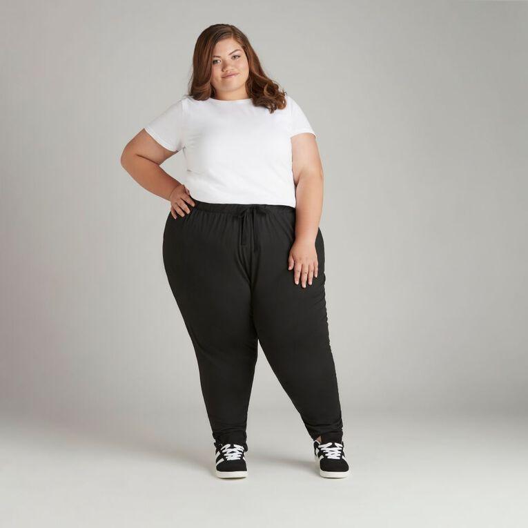 H&H Plus Soft Touch Harem Pants, Black, hi-res