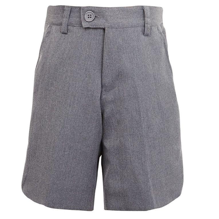 Schooltex Boys' Winter Zip Shorts, New Grey, hi-res