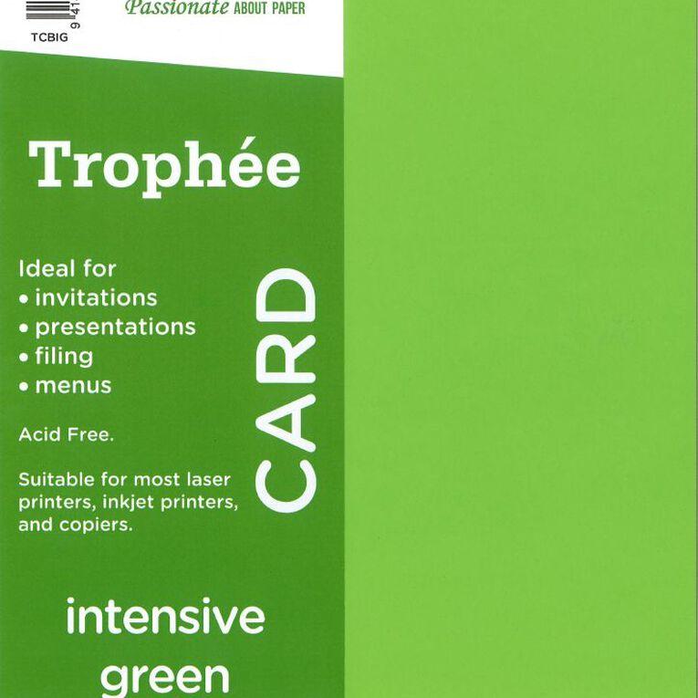 Trophee Card 160gsm 100 Pack Intensive Green A4, , hi-res