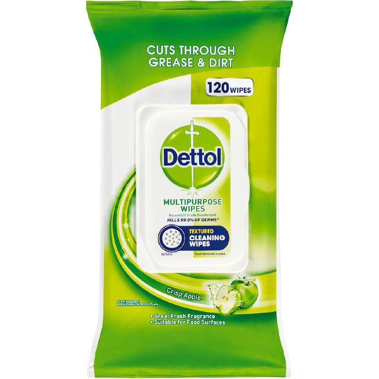 Dettol Antibacterial Multipurpose Cleaning Wipes Crisp Apple 120 Pack, , hi-res