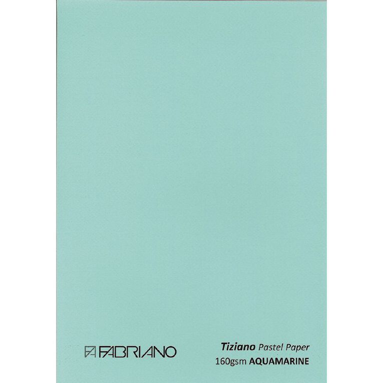 Fabriano Tiziano Pastel Paper 50cm x 65cm Aqua, , hi-res