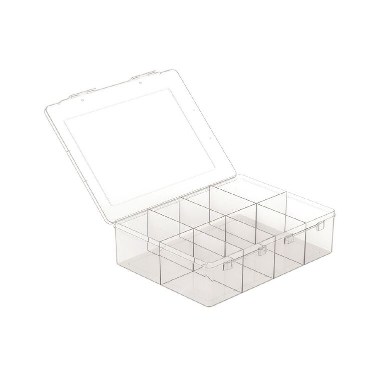 Living & Co Storage Box 8 Compartment Clear, , hi-res