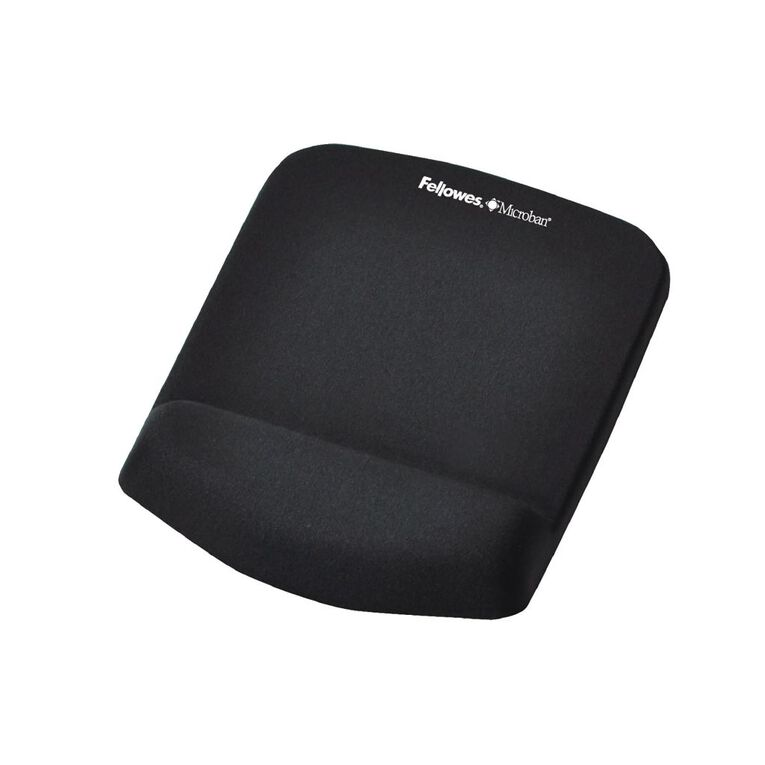 Fellowes Plush Touch Mouse Pad With Wrist Support Black, , hi-res