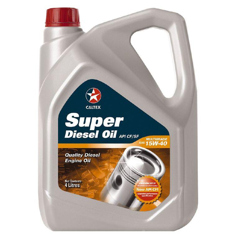 Caltex Super Diesel Engine Oil (CF) 15W-40 4L, , hi-res