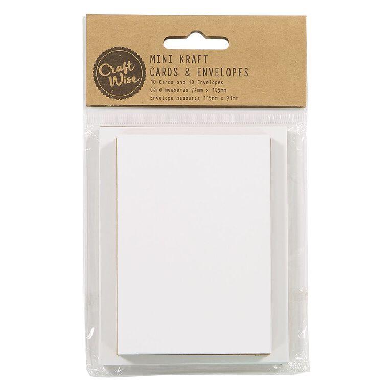Uniti Cards & Envelopes Mini Brown 10 Pack, , hi-res
