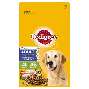 Pedigree Adult 7+ years with real Turkey 3kg