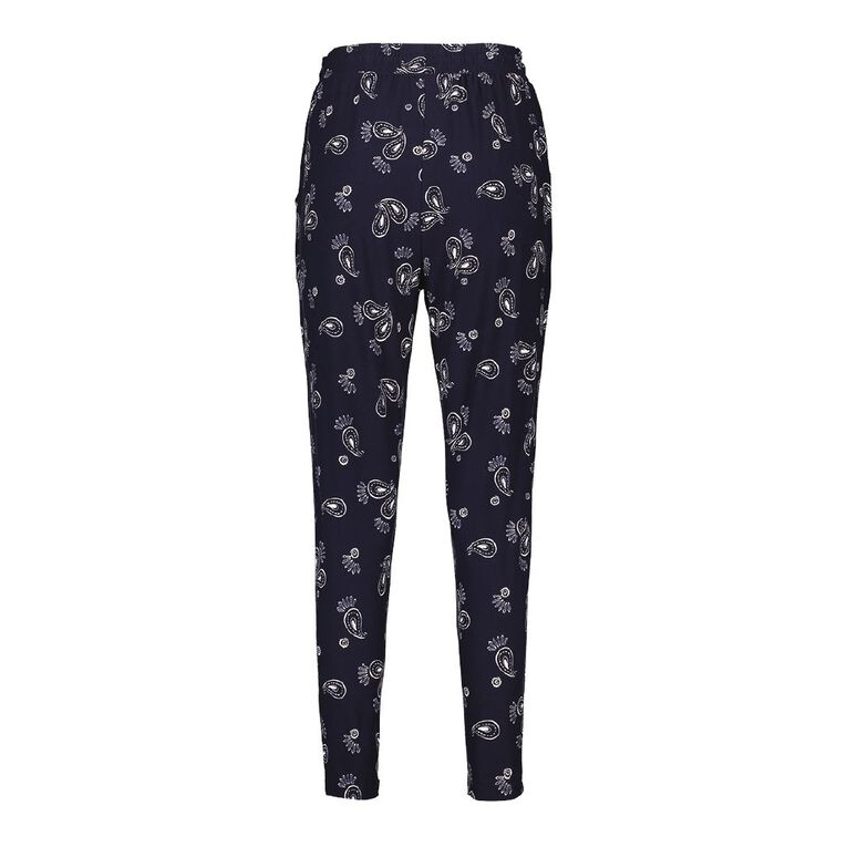 H&H Women's Stretch Harem Pants, Blue Dark, hi-res