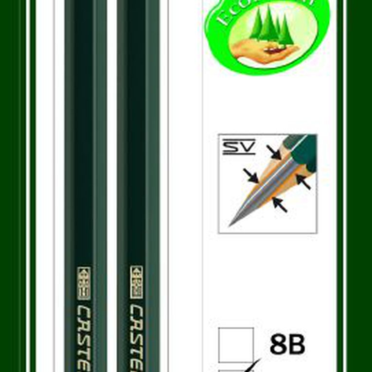 Faber-Castell Drawing Pencil 9000 6B HB 2 Pack, , hi-res