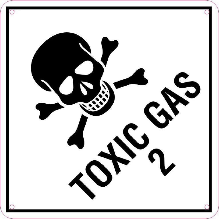 WS Toxic Gas Sign Small 300mm x 300mm, , hi-res