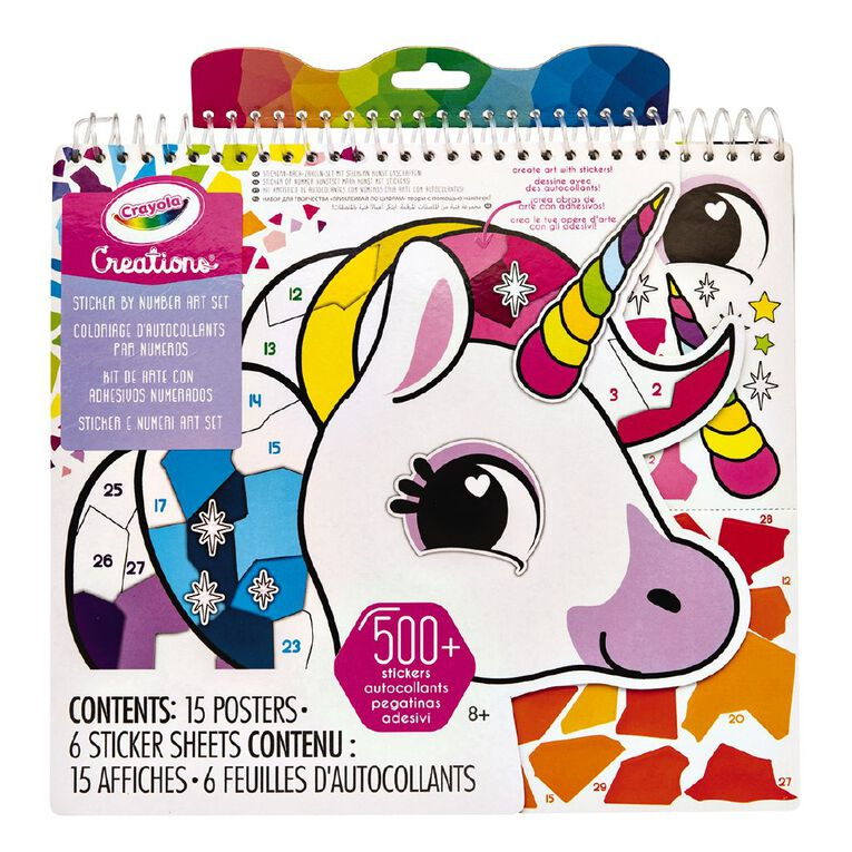 Crayola Creations Sticker By Number Art Set, , hi-res