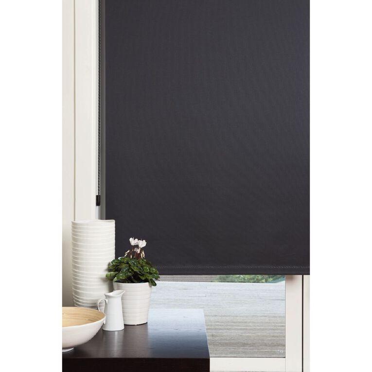 Homeworks Soho Roller Blind Black 180cm x 210cm, Black, hi-res