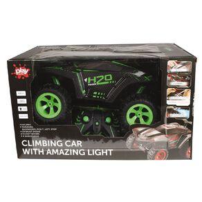 RC Climbing Car With Lights And Exhaust Spray Green