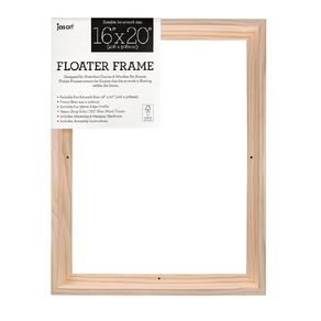 Jasart Floater Frame Thick Edge 16x20 Inches Natural