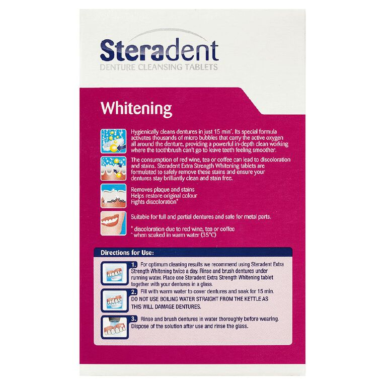 Steradent Tablets Extra Strength 30 Pack, , hi-res