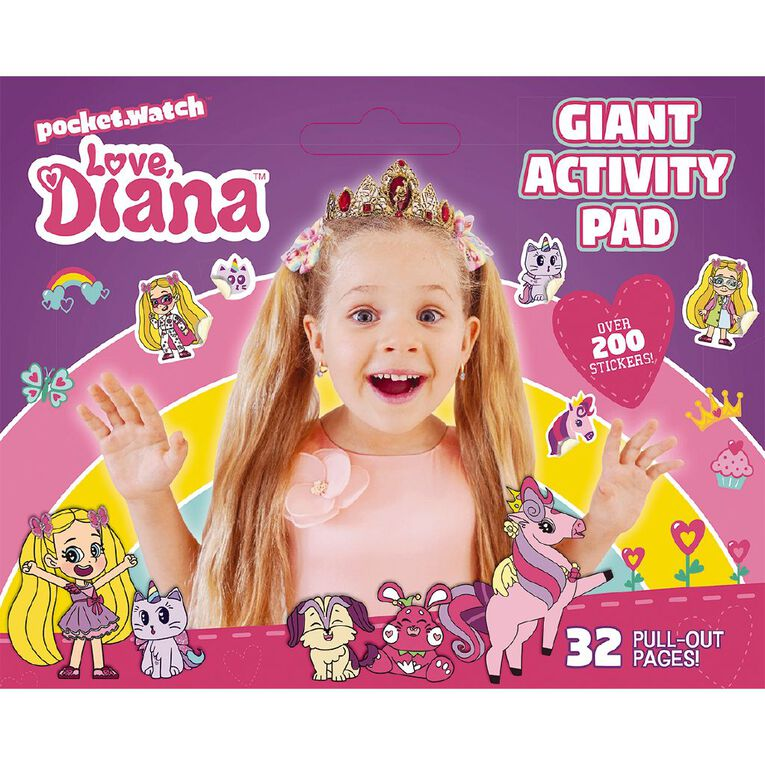 Love Diana: Giant Activity Pad, , hi-res image number null