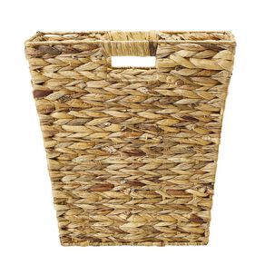 Living & Co Water Hyacinth Square Basket Natural Medium