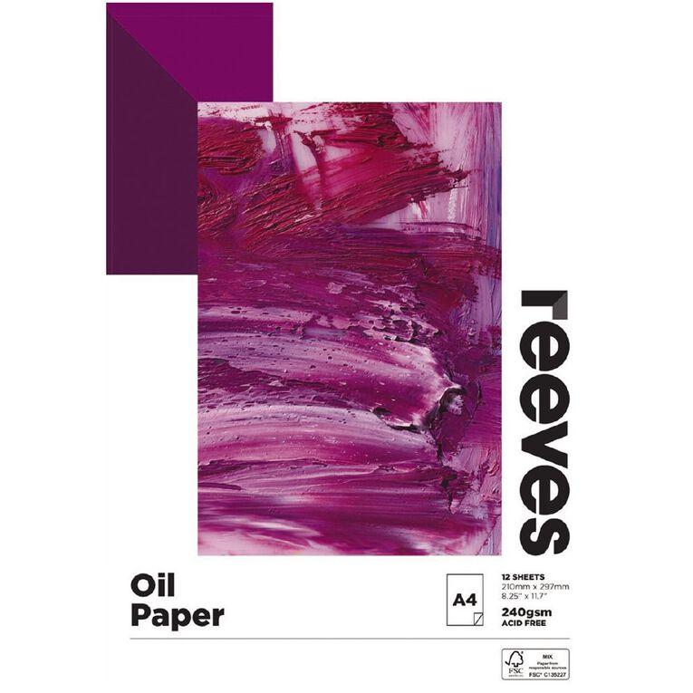 Reeves Oil Colour Pad A4, , hi-res